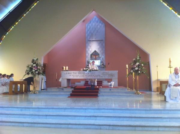 Fr. Brendan celebrating the Mass of Thanksgiving