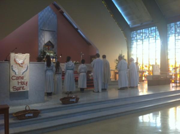 Mass was Celebrated by Fr. Brendan, Fr. Philip, Fr