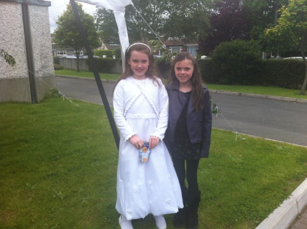 Two recent Holy Communicants