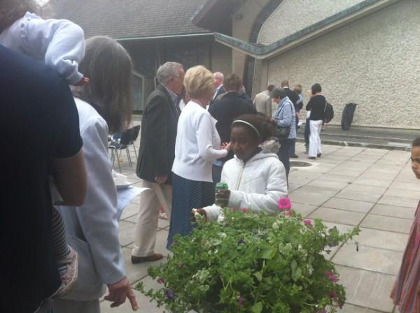 Parishioners enjoying the hospitality