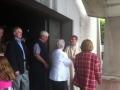 Parishioners congratulate Fr. Brendan