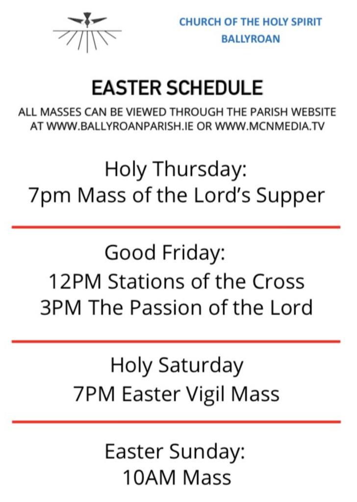 Mass online - Easter 2020