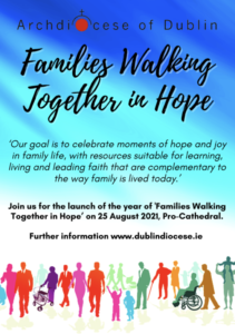 Families walking together in hope